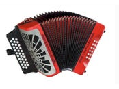 HOHNER COMPADRE EAD RED SILVER GRILL