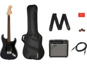 SQUIER BY FENDER Affinity Stratocaster HSS Pack LRL Charcoal Frost Metallic Gig Bag 15G